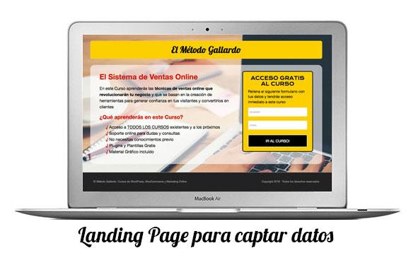 landing pages de producto