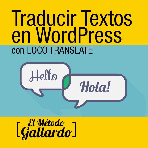 como traducir textos en wordpress